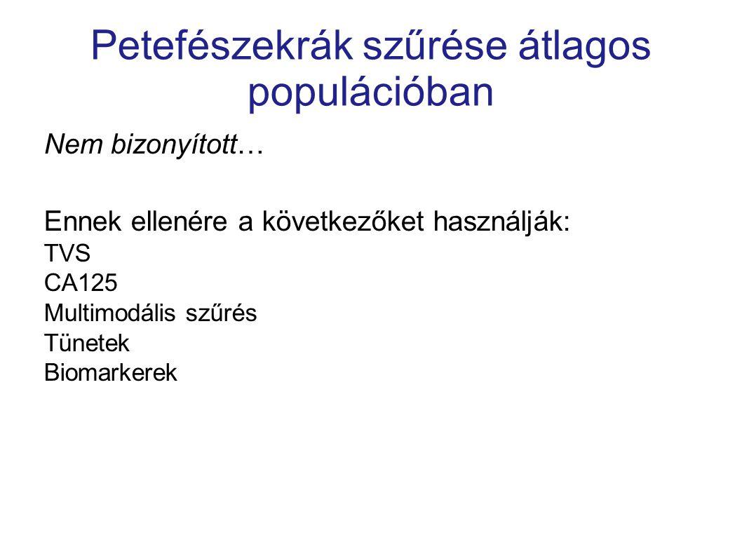 Petefészekrák szűrése átlagos populációban