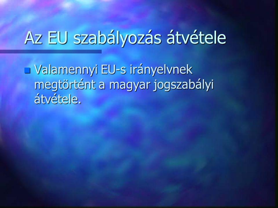 Az EU szabályozás átvétele
