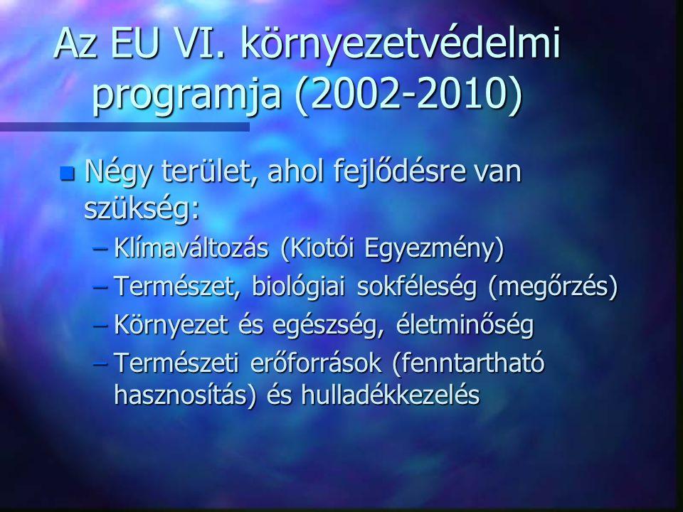 Az EU VI. környezetvédelmi programja (2002-2010)