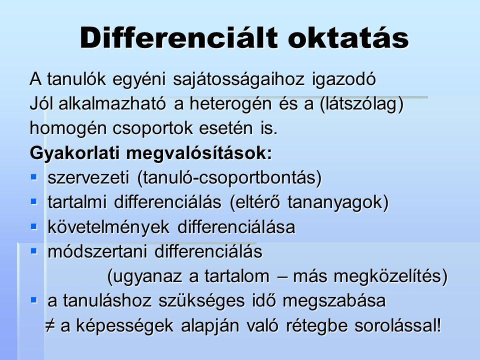 Differenciált oktatás