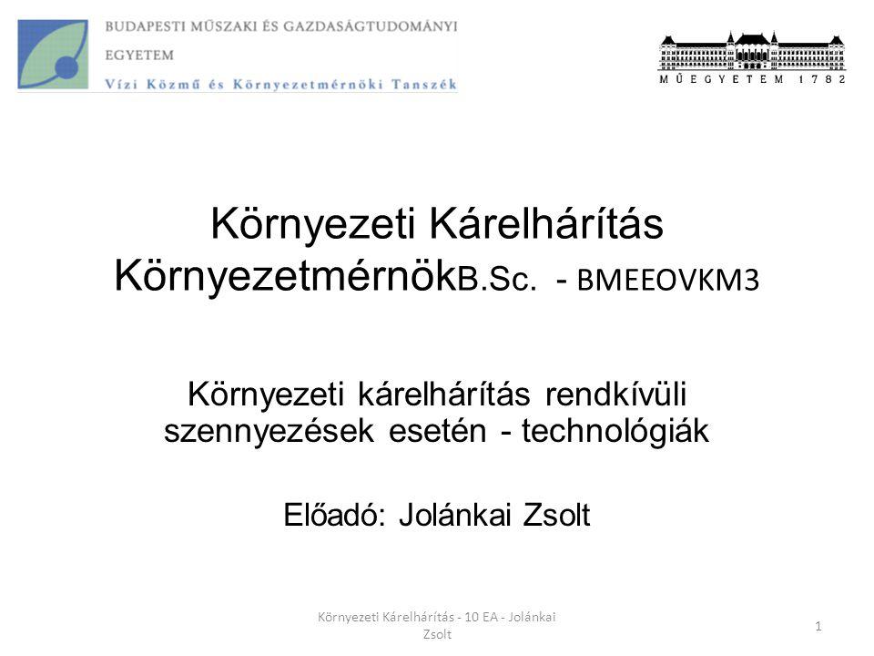 Környezeti Kárelhárítás KörnyezetmérnökB.Sc. - BMEEOVKM3