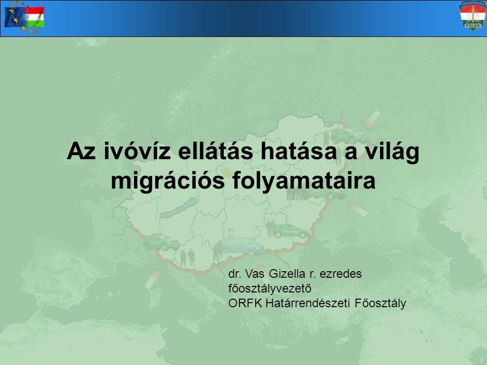 Az ivóvíz ellátás hatása a világ migrációs folyamataira