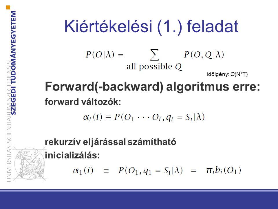 Forward algoritmus időigény: O(N2T)