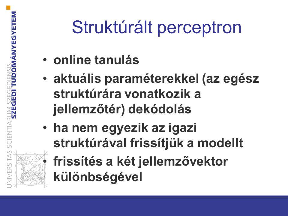 Struktúrált perceptron