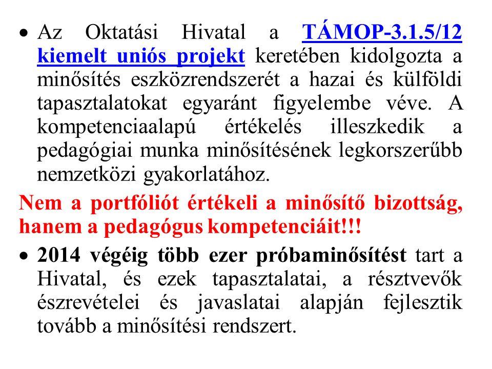 Az Oktatási Hivatal a TÁMOP-3. 1