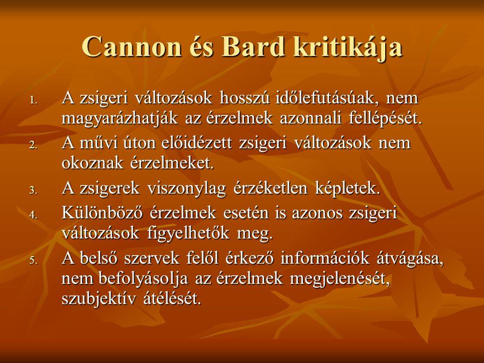 Cannon és Bard kritikája