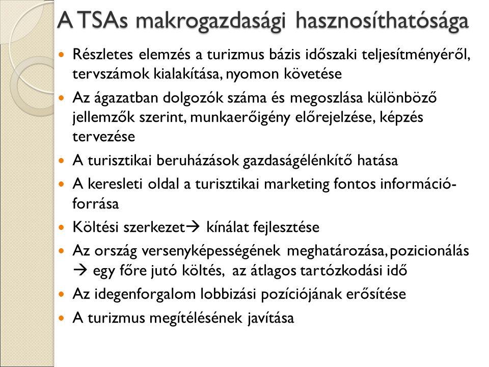 A TSAs makrogazdasági hasznosíthatósága