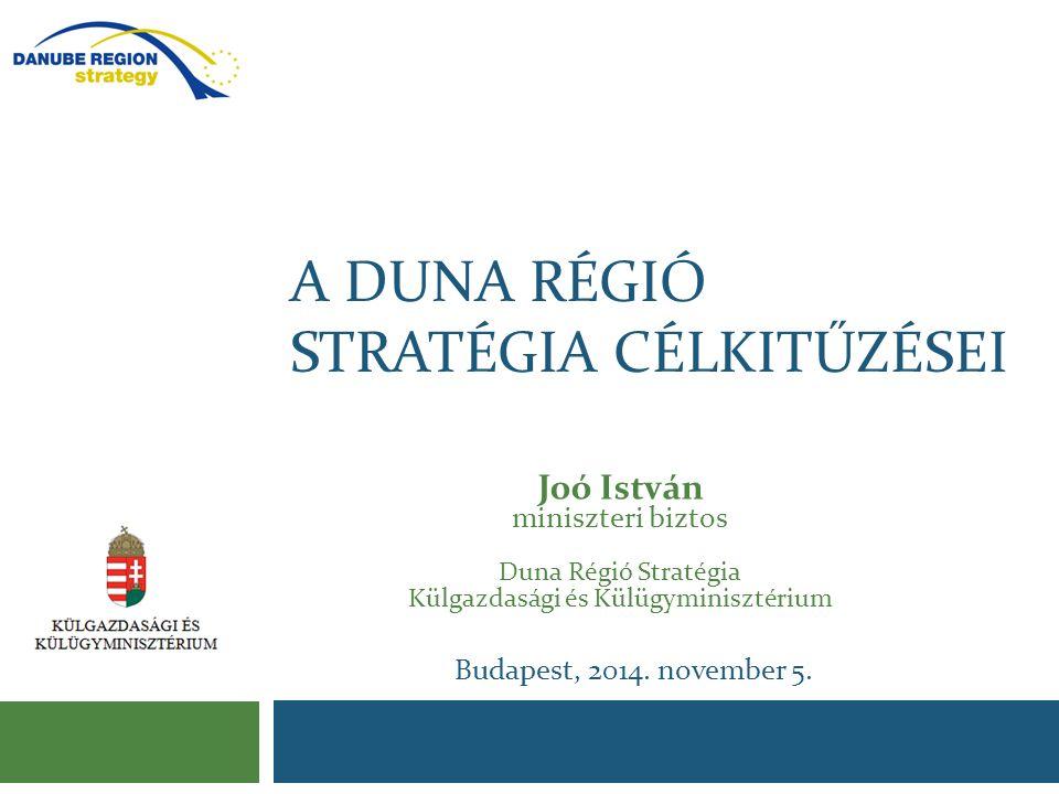 A Duna régió stratégia célkitűzései
