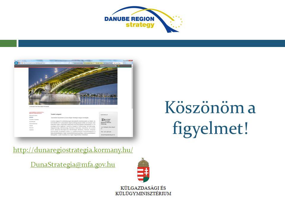 Köszönöm a figyelmet! http://dunaregiostrategia.kormany.hu/