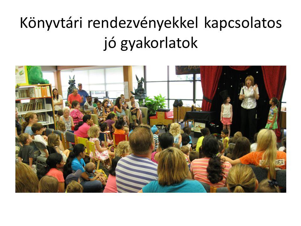 Könyvtári rendezvényekkel kapcsolatos jó gyakorlatok