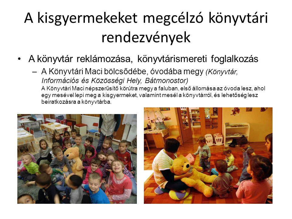 A kisgyermekeket megcélzó könyvtári rendezvények