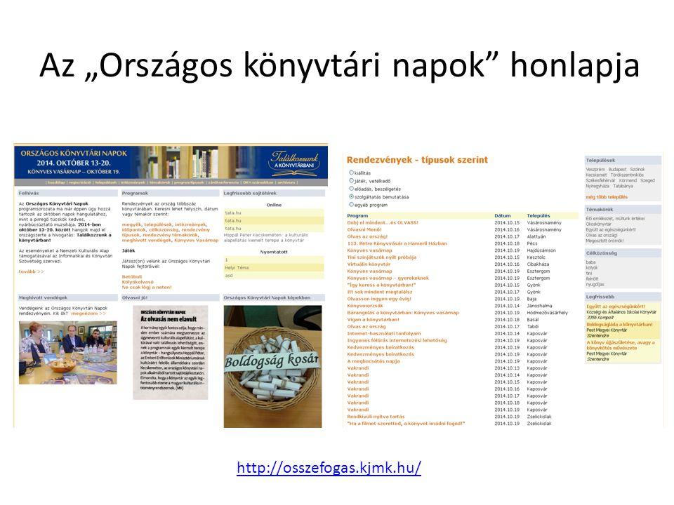 """Az """"Országos könyvtári napok honlapja"""