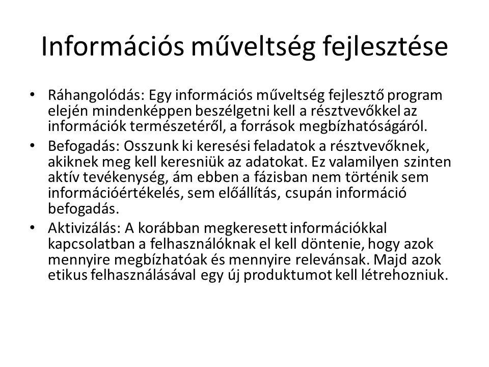Információs műveltség fejlesztése
