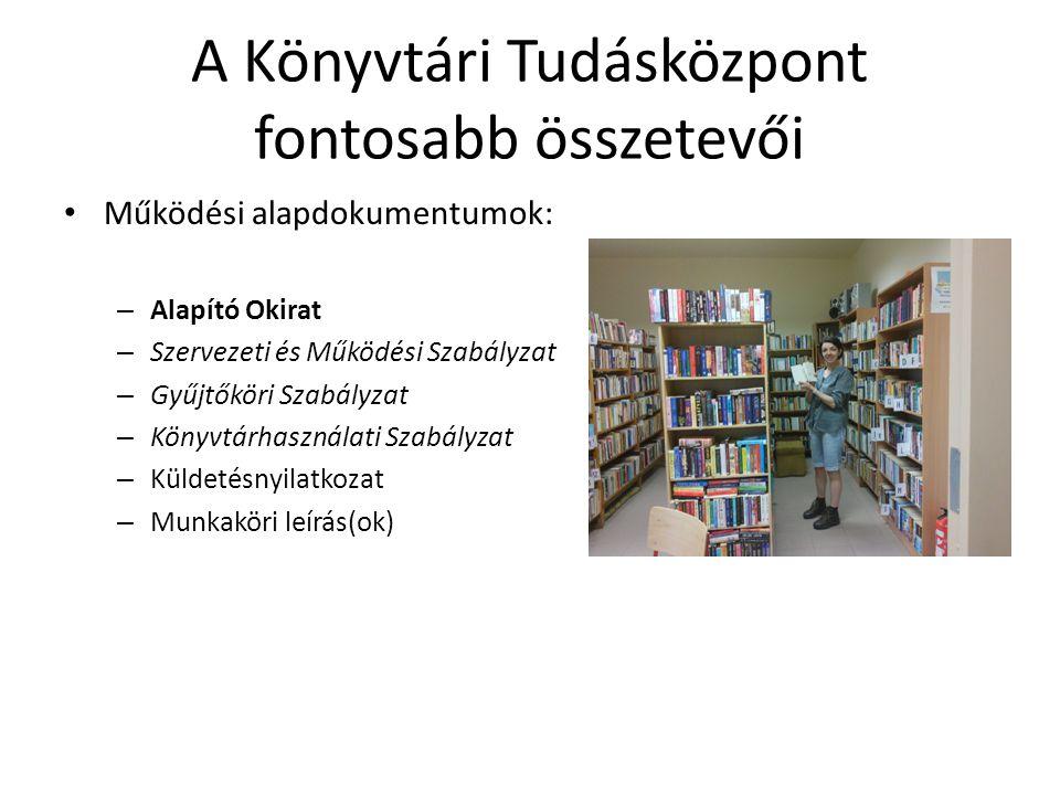 A Könyvtári Tudásközpont fontosabb összetevői