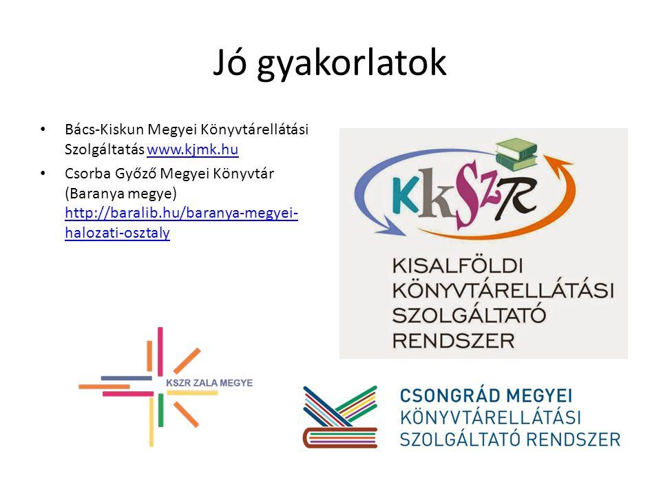 Jó gyakorlatok Bács-Kiskun Megyei Könyvtárellátási Szolgáltatás www.kjmk.hu.