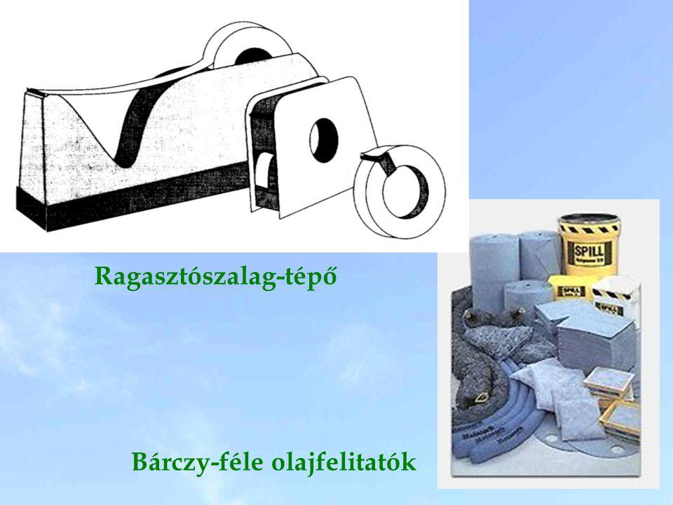 Ragasztószalag-tépő Bárczy-féle olajfelitatók