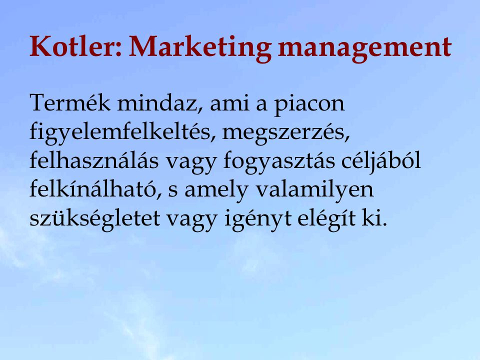 Kotler: Marketing management