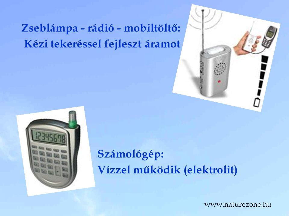 Zseblámpa - rádió - mobiltöltő: Kézi tekeréssel fejleszt áramot