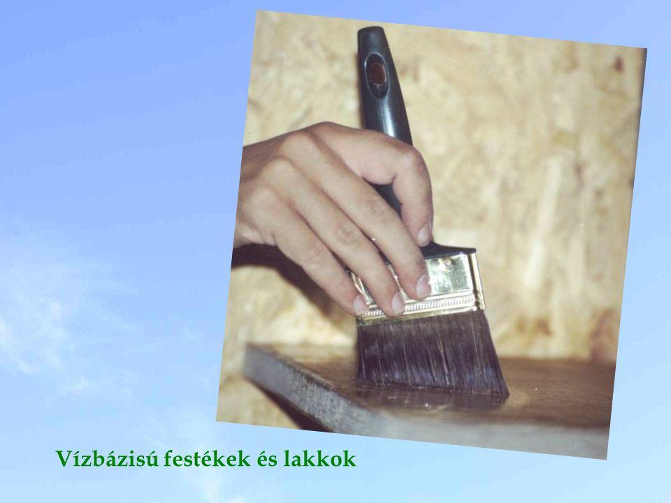 Vízbázisú festékek és lakkok