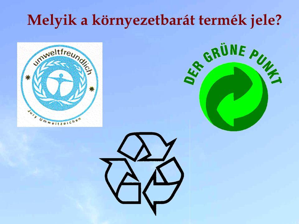 Melyik a környezetbarát termék jele