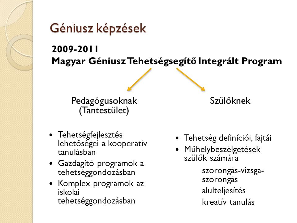 Pedagógusoknak (Tantestület)