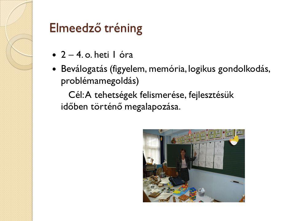 Elmeedző tréning 2 – 4. o. heti 1 óra