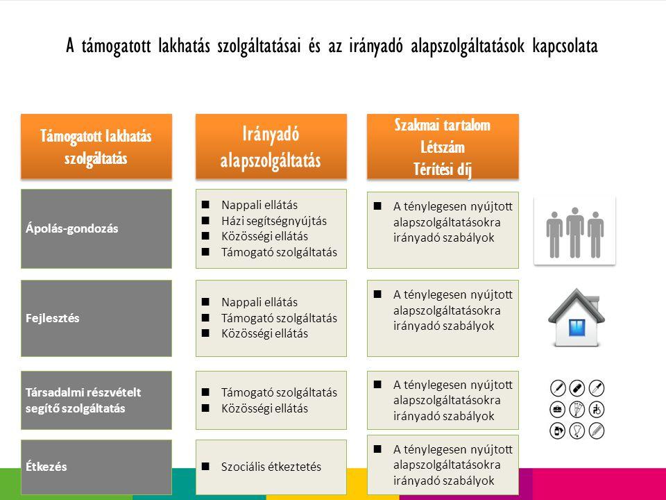 Támogatott lakhatás szolgáltatás Irányadó alapszolgáltatás