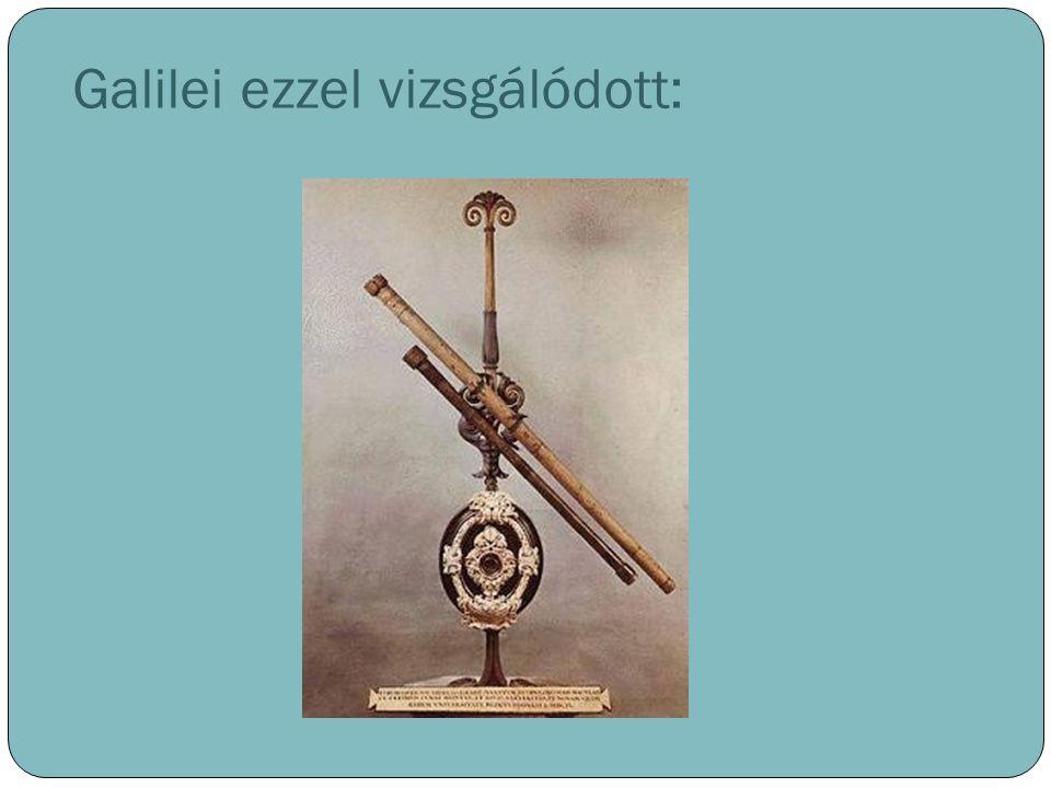 Galilei ezzel vizsgálódott: