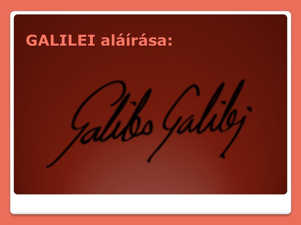 GALILEI aláírása:
