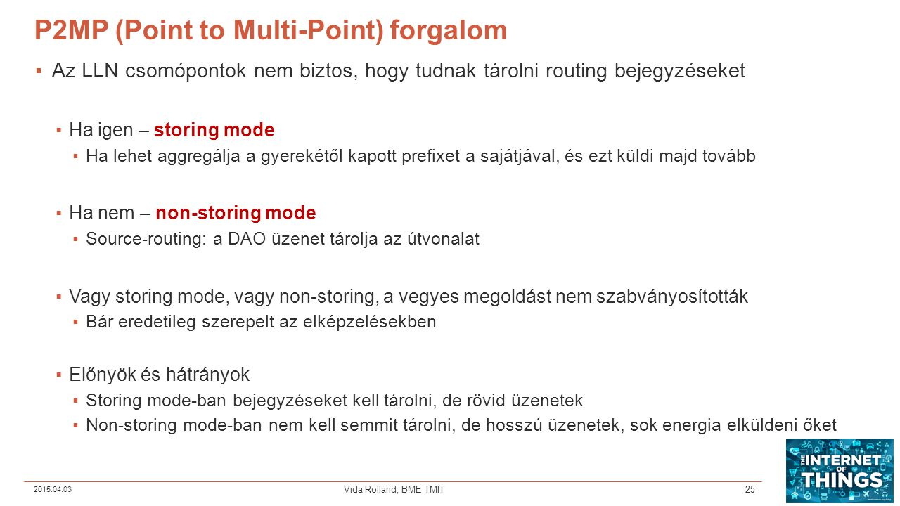 P2MP (Point to Multi-Point) forgalom