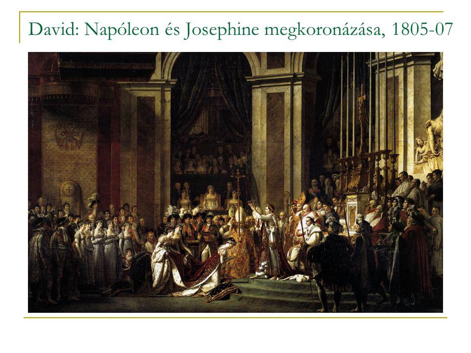 David: Napóleon és Josephine megkoronázása, 1805-07