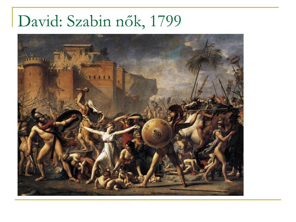 David: Szabin nők, 1799
