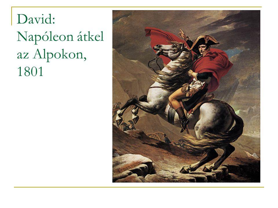 David: Napóleon átkel az Alpokon, 1801