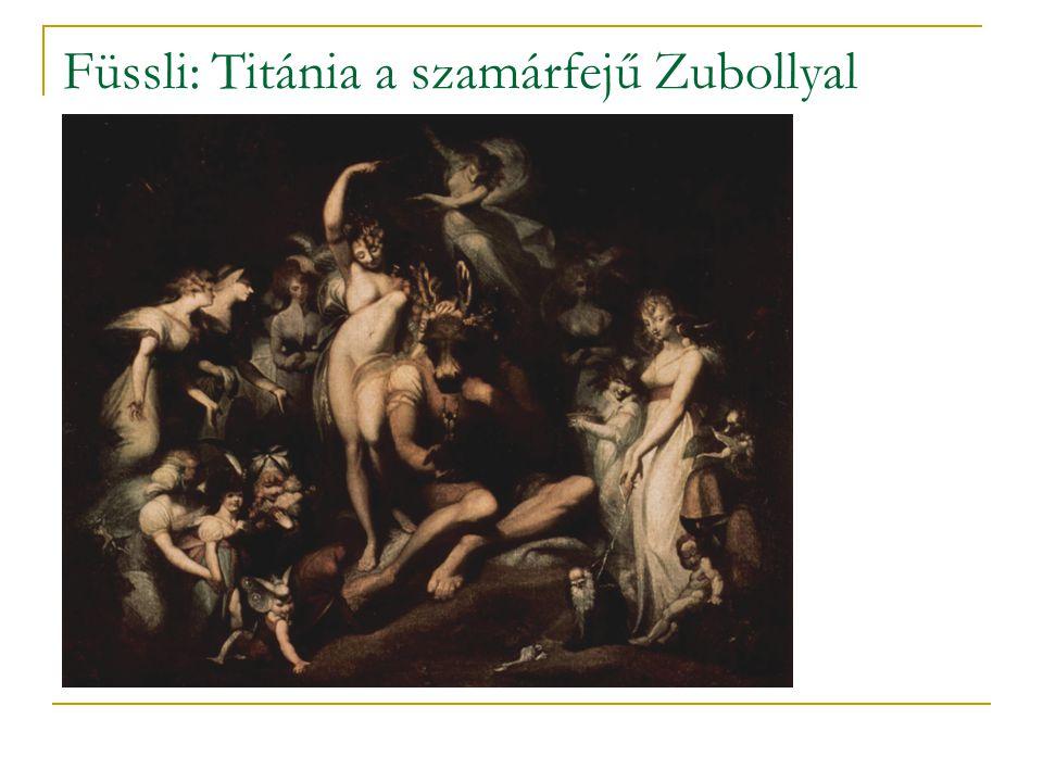 Füssli: Titánia a szamárfejű Zubollyal