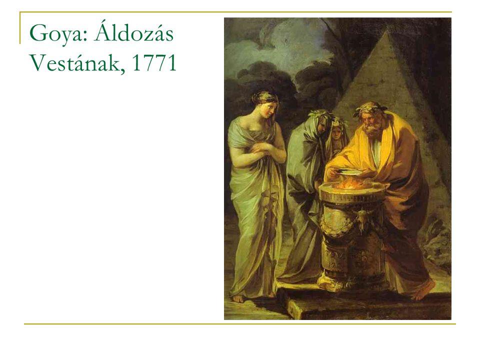 Goya: Áldozás Vestának, 1771