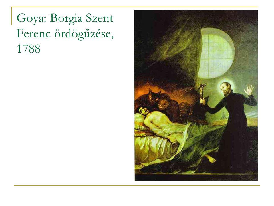 Goya: Borgia Szent Ferenc ördögűzése, 1788