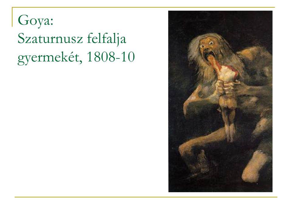 Goya: Szaturnusz felfalja gyermekét, 1808-10