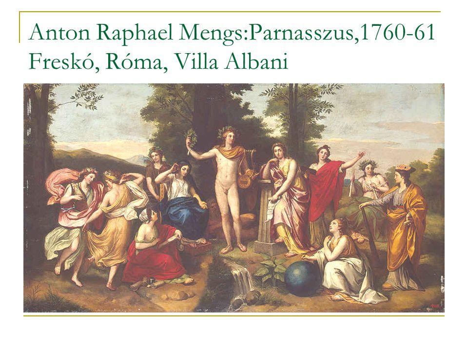 Anton Raphael Mengs:Parnasszus,1760-61 Freskó, Róma, Villa Albani