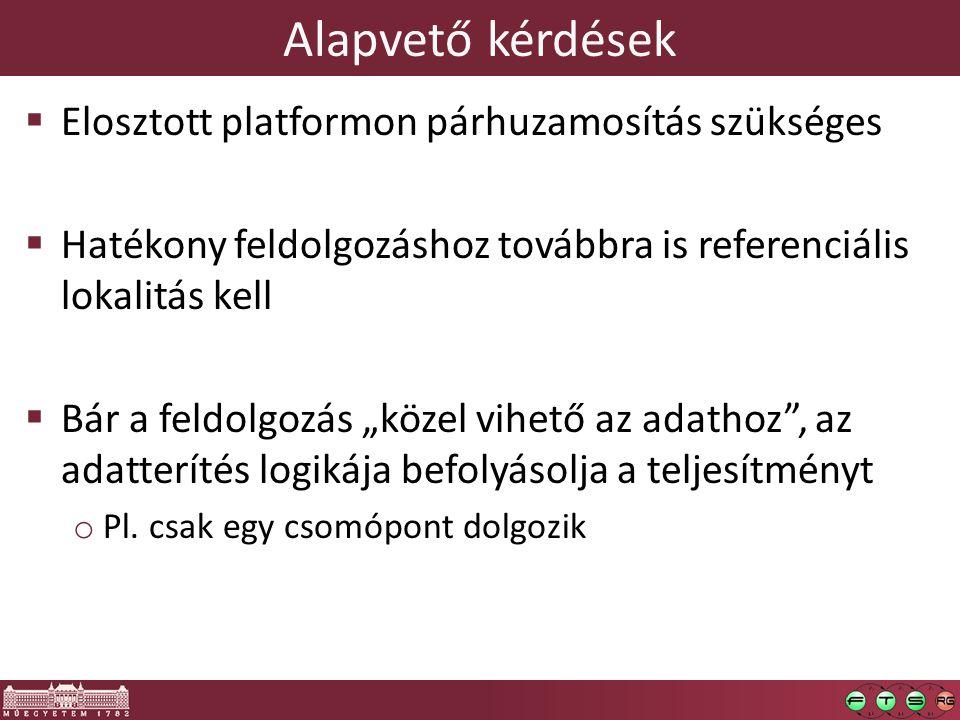 Alapvető kérdések Elosztott platformon párhuzamosítás szükséges