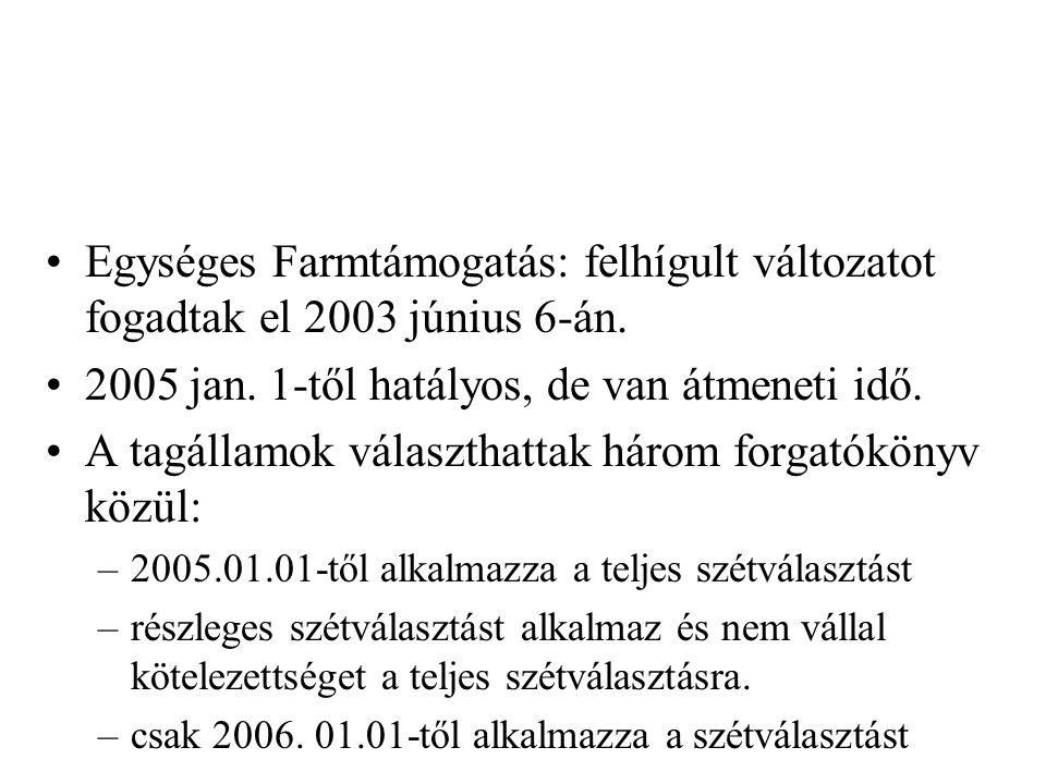 2005 jan. 1-től hatályos, de van átmeneti idő.