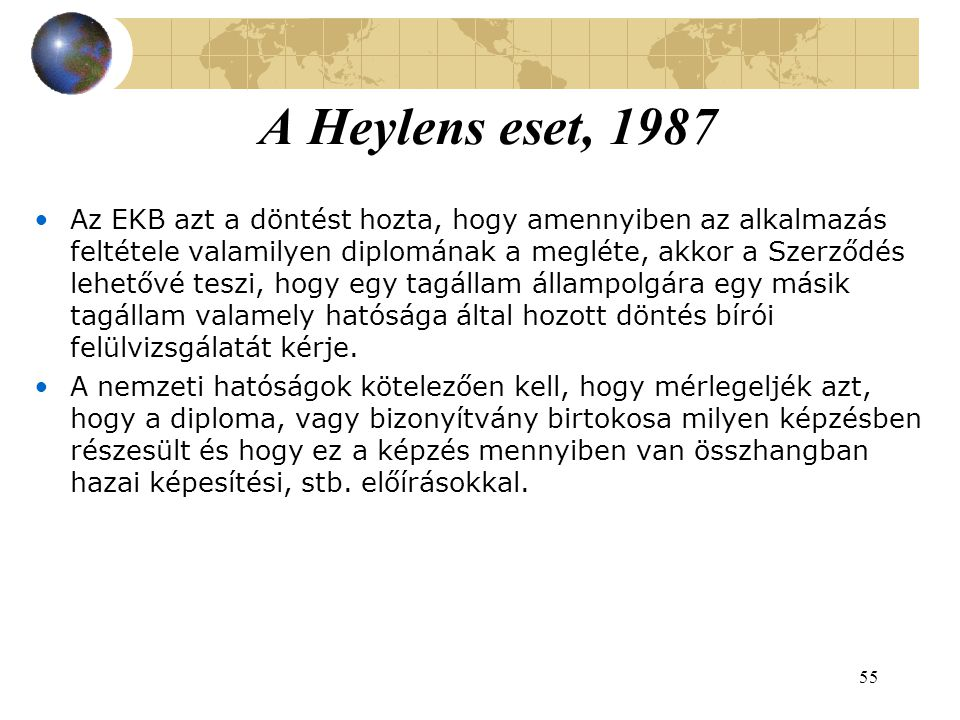 A Heylens eset, 1987