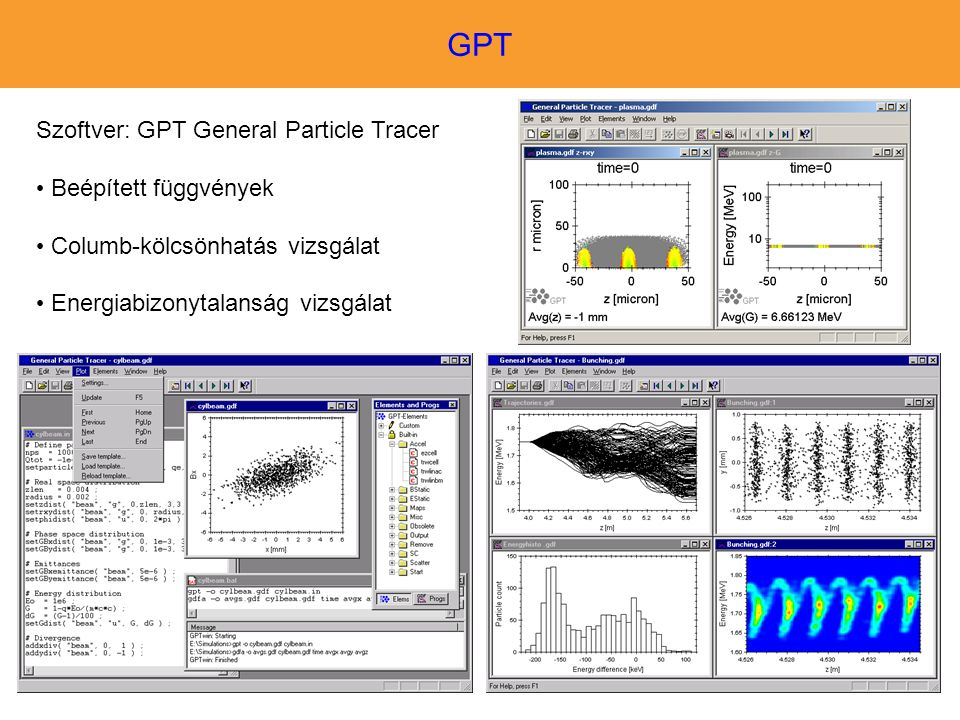 GPT Szoftver: GPT General Particle Tracer Beépített függvények