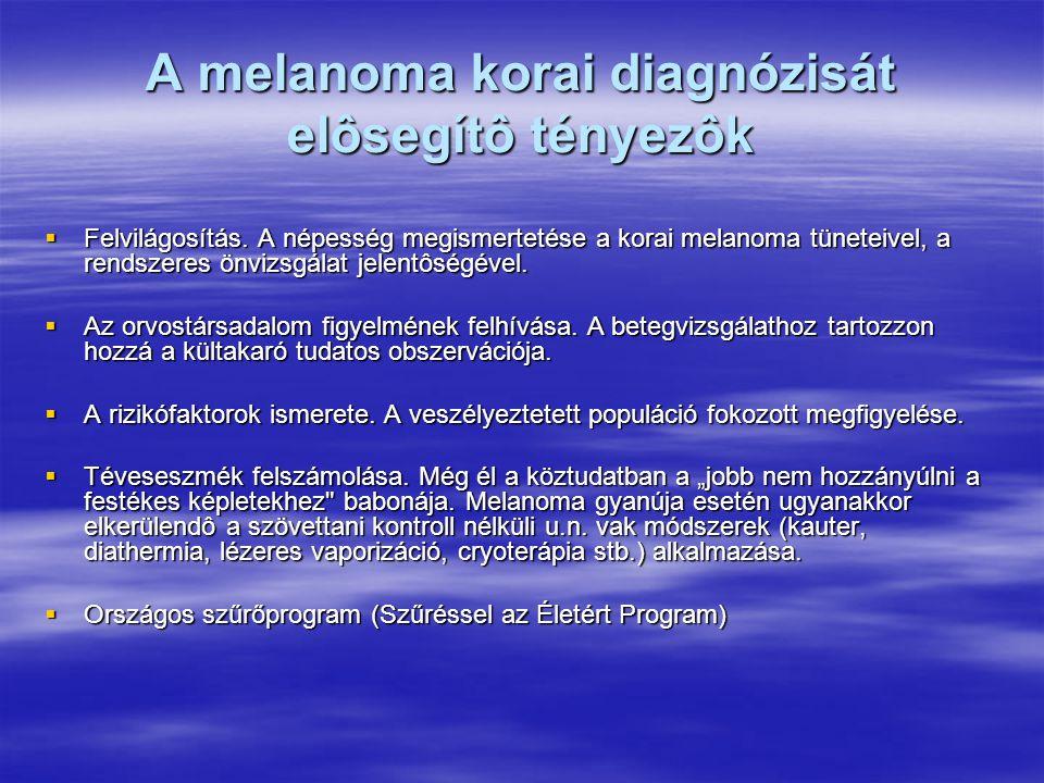 A melanoma korai diagnózisát elôsegítô tényezôk