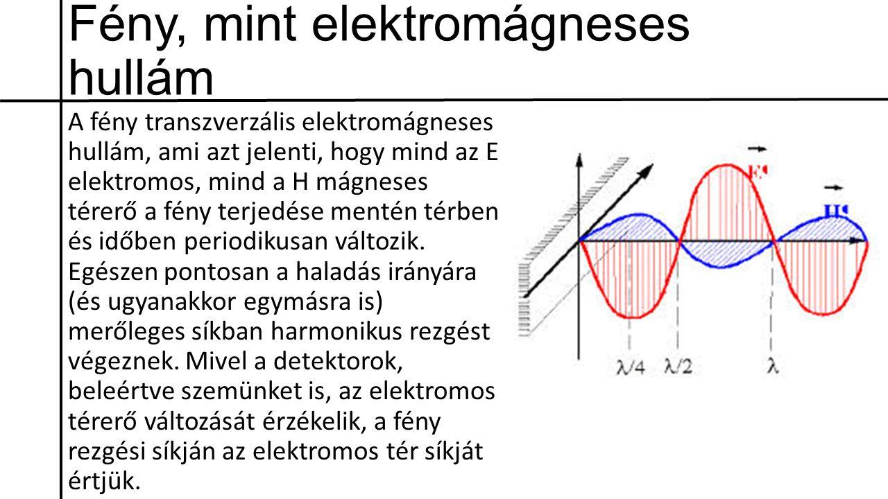 Fény, mint elektromágneses hullám