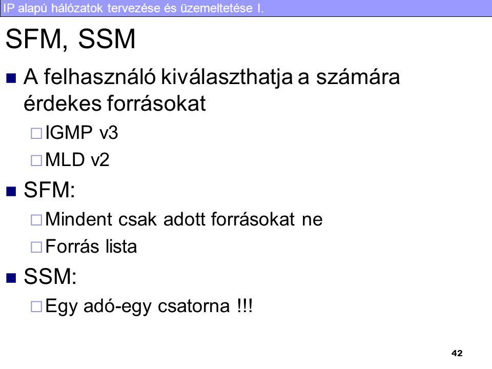 SFM, SSM A felhasználó kiválaszthatja a számára érdekes forrásokat