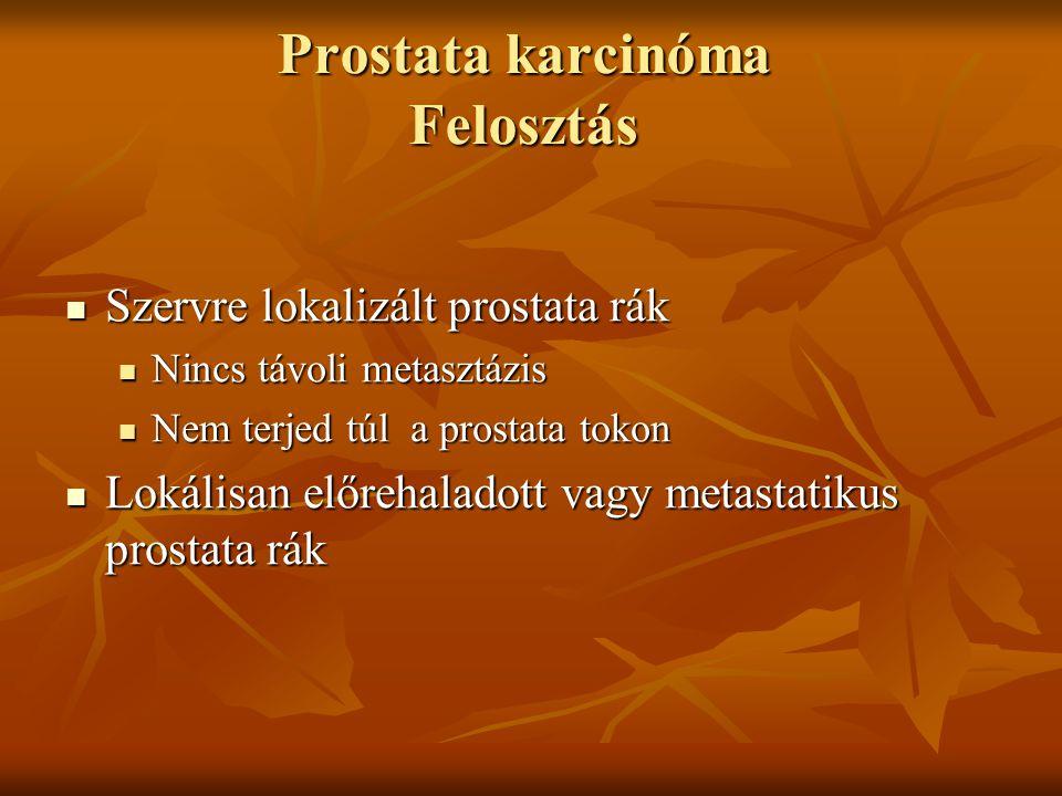 Prostata karcinóma Felosztás