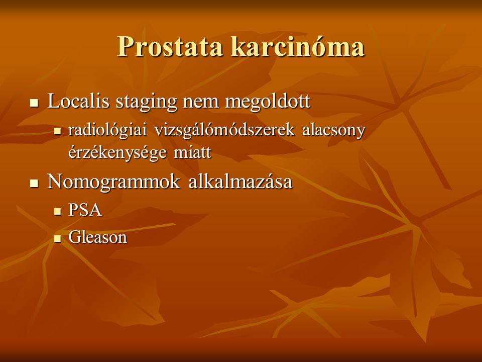 Prostata karcinóma Localis staging nem megoldott