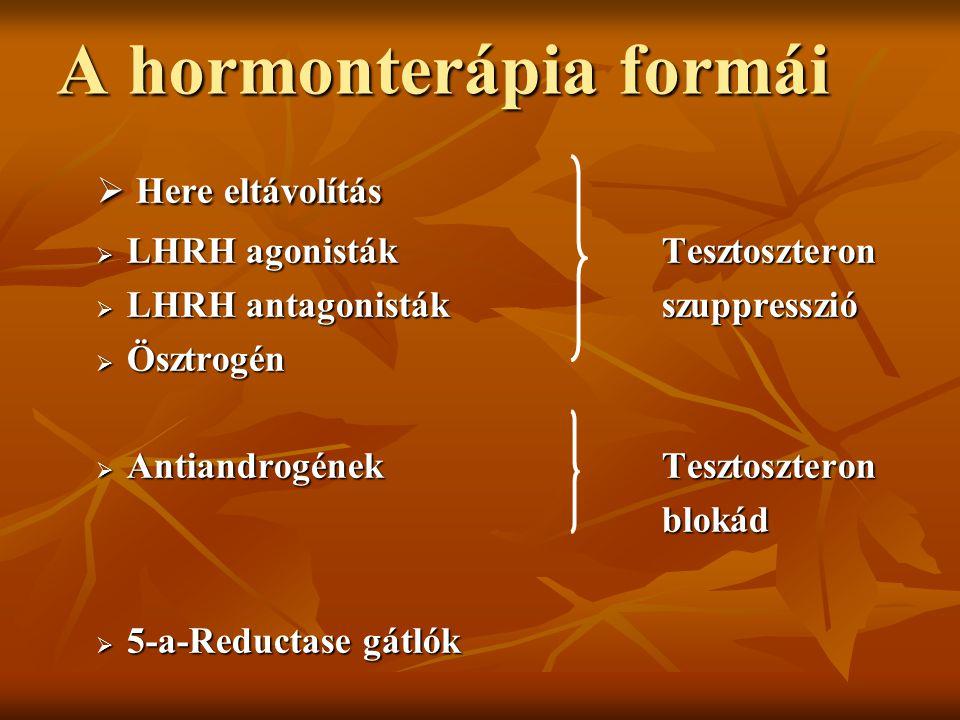 A hormonterápia formái
