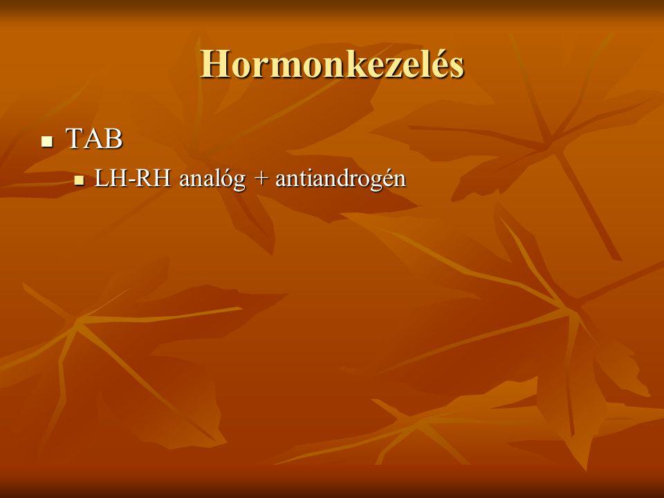 Hormonkezelés TAB LH-RH analóg + antiandrogén