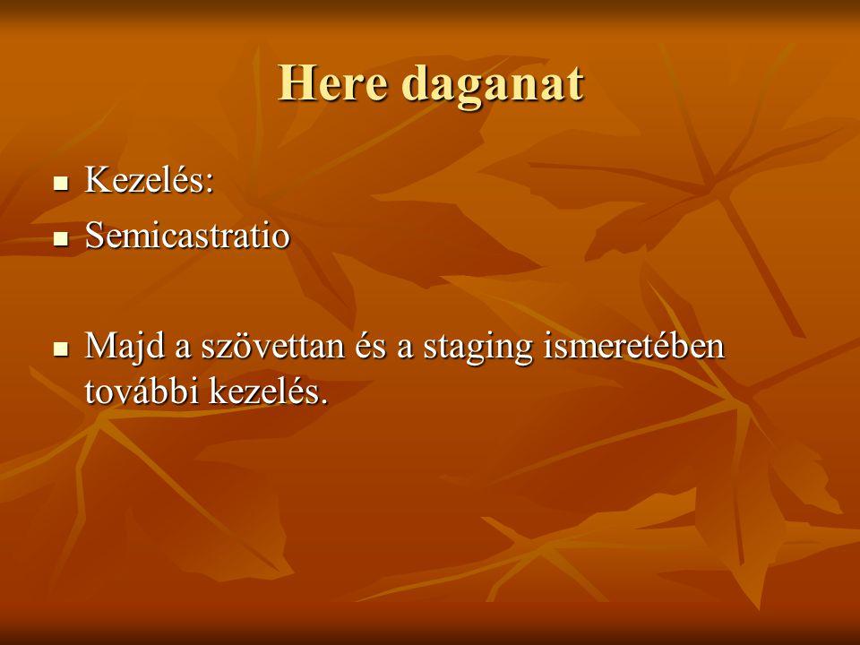 Here daganat Kezelés: Semicastratio